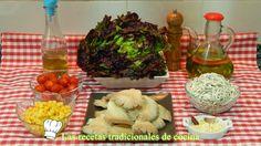 Receta de ensalada templada de gulas y setas