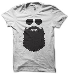 Aviator Glasses And Beard by KKTees on Etsy