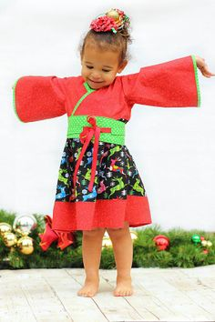 Little Girls Christmas Dress  Christmas in July
