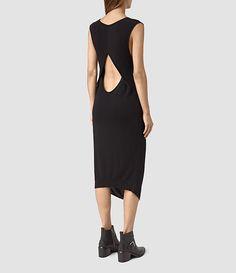 Women's Ero Maxi Dress (Black) - product_image_alt_text_4