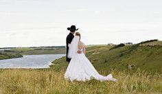 An outdoor western wedding