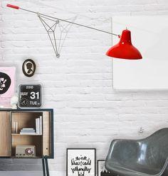 """Designer Wandlampe """"Diana"""" im Vintage-Stil - leuchtende Farb-Akzente"""