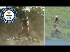Récord mundial en hoverboard: 275,9 metros volando sobre un lago (video)