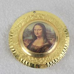 Swiss Made Lady Nelson Wind Up Necklace Pendant Watch Mona Lisa Backside Works #LadyNelson