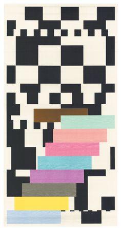 "Richard Tuttle ""Step by Step"", 2002. #stripes #striped"