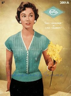 The   Vintage   Pattern   Files: 1950's Knitting - Spring Song Blouse