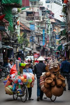 Get lost amid the bustle of the Old Quarter, Hanoi, Vietnam.