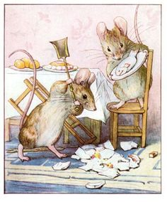 The Tale of Two Bad Mice - 1904 - Tom Smashes Doll Dishes in the dollhouse