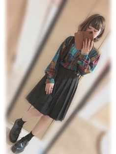 ・ ・ ・ 柄シャツ × プリーツスカート now playing ... ⇨ ABCDC / クリ