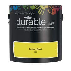 Wilko Durable Matt Emulsion Paint                 Lemon Burst 2.5L