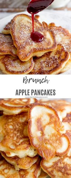 Breakfast Pancakes, Breakfast Dishes, Breakfast Recipes, Apple Breakfast, Apple Recipes, Sweet Recipes, Brunch Recipes, Dessert Recipes, Fingerfood Party