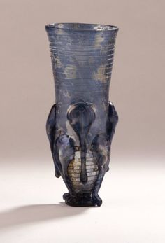 Blue Glass Claw Beaker 5th-7th Century AD Anglo Saxon (Source: The British Museum)