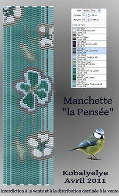 Manchette_fleurie_turquoise_marron