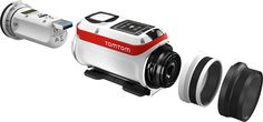 TomTom Bandit Premium GPS Action Camera, HD Bluetooth, Wi-Fi with Splashproof Lens Cover, GoPro Adapter, Handle Bar Mount & 360 Pitch Mount Action, Power Cable, Hd 1080p, Gopro, Digital Camera, Wi Fi, Bluetooth, Lens, Laptop