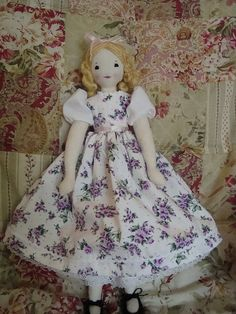 "10"" Edith Flack Ackley Cloth doll  by 7stitches, via Flickr"