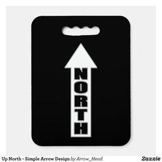 Up North - Simple Arrow Design Seat Cushion - Stadium & Seat Cushions Gift Idea. Stadium Seat Cushions, Stadium Seats, Logo For School, Shop Up, Arrow Design, Fundraising, Team Logo, Logos, Simple