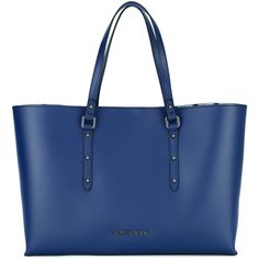 Armani Jeans shopper tote ($122) ❤ liked on Polyvore featuring bags, handbags, tote bags, blue, armani jeans handbags, blue tote, shopping tote bags, blue handbags and blue purse
