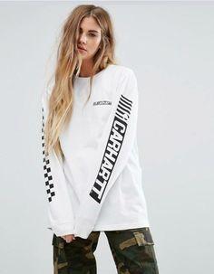 9fe77e7a422a Achetez Carhartt WIP - Cart - T-shirt oversize à manches longues avec logo  imprimé sur la manche sur ASOS. Découvrez la mode en ligne.