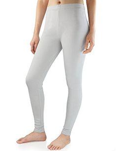 45cf24f67fac7 David Archy Women's Heavy Weight Fleece Lined Thermal Leggings (M,Light  Gray)