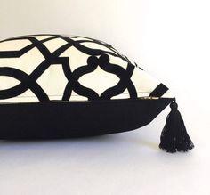 NEW Geometric Black and White Pillow Cover by HartleyJonesDesign