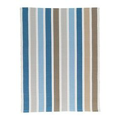 """EMMIE rug, flatwoven, blue Length: 2 ' 7 """" Width: 2 ' 0 """" Surface density: 4 oz/sq ft Length: 80 cm Width: 60 cm Surface density: 1110 g/m²"""