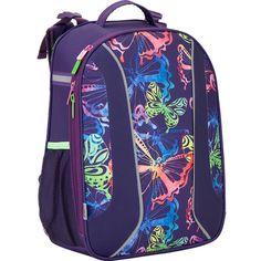 1ddd9f7d5c2b Ранец для девочки каркасный ортопедический 701 Neon butterfly (K17-703M-1)  - купить по лучшей цене в Киеве от компании