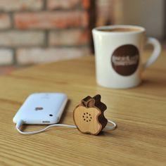 Wooden Apple Speaker by Motz.