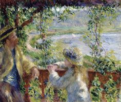 By the Water (Near the Lake) by Pierre-Auguste Renoir Size: 46.2x55.4 cm Medium: oil on canvas