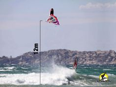 Of the biggest jumps on windsurfing