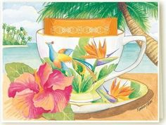 Kimberly Shaw Bird of Paradise Tea Card