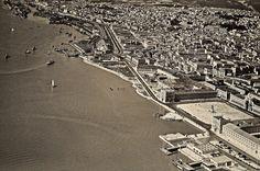 Praça do Comércio, vista aérea, 1952