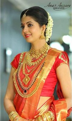 South Indian Malayali Bride South Indian Bridal Hairstyle