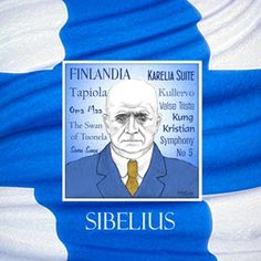 Jean Sibelius, 1865 - was a Finnish composer. He composed seven symphonies and other works but is best known for his composition 'Finlandia'. Classical Music Composers, In A Nutshell, Mixed Media, Art Prints, History, Composition, Portrait, School, Design