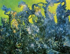 Max Ernst (1891-1976), The Last Forest (1960-70), oil on canvas, 145.5 x 114 cm. Musee National d'Art Moderne, Centre Pompidou, Paris, France. Via nobrashfestivity.