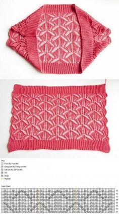 Quimono de moda a dos agujas ¡tan sencillo como bonito! Quimono de moda a dos agujas ¡tan sencillo como bonito! Lace Shrug, Knit Shrug, Knitted Poncho, Crochet Cardigan, Knitted Shawls, Crochet Shawl, Knit Crochet, Lace Shawls, Lace Scarf
