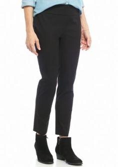 Crown  Ivy  True Black Pull-On Bi-Stretch Pants - Short