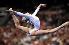 Nastia Liukin (United States) on balance beam at the 2008 U. Gymnastics Pictures, Women's Gymnastics, Olympic Trials, Balance Beam, Nastia Liukin, Luanna, Female Gymnast, Contortion, Olympians