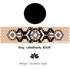 peyote ring pattern,PDF-Download, #223R, beading pattern, beading tutorials, ring pattern