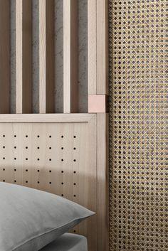 High headboard for double bed OTTOW By Wiener GTV Design design storage associati Bed Headboard Design, Bedroom Furniture Design, Headboards For Beds, Bed Furniture, Bedroom Decor, Master Room Design, Double Bed Designs, Interior Design, Design Design