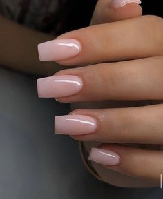 Acrylic Nails Coffin Short, Simple Acrylic Nails, Pink Acrylic Nails, Coffin Nails, Shapes Of Acrylic Nails, Natural Acrylic Nails, Acrylic Nails Designs Short, Acrylic Nail Designs Classy, Acrylic Nails Almond Short