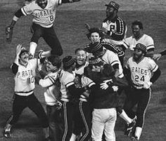 Celebrating a World Series victory in Baltimore, October, 1979.