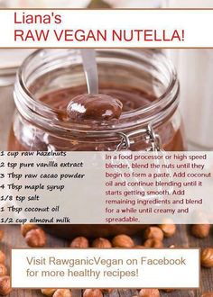 Raw Vegan Nutella - sounds amazing!