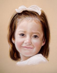 Custom Portrait Pastel Drawing of a Child or by digsandthreads, $210.00