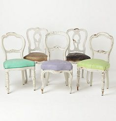 mismatched chairs and seats!