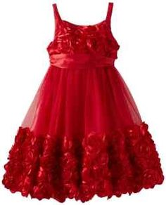 A beautiful Bonnie Jean Christmas dress awaits your little girl.    If you are looking for the Perfect dress for your next Christmas or Holiday...