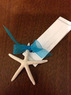 White Star Fish  Beach Wedding Favor Place Card Gift by caroledoc, $2.00