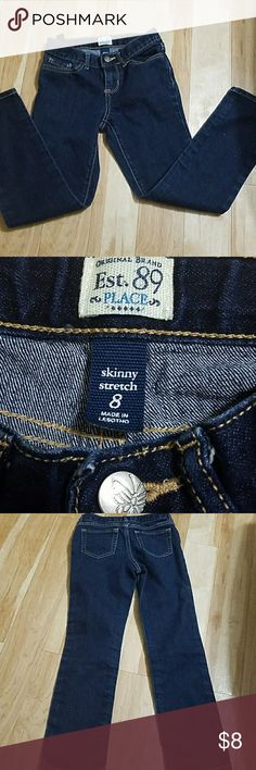 Place Dark Blue Girls Skinny Jeans Denim Size 8 Place Dark Blue Girls Skinny Stretch Jeans Denim Size 8 in good condition Place by Children's Place  Bottoms Jeans