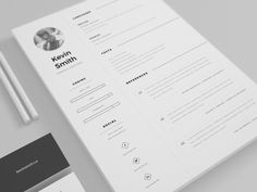 Free Clean And Minimal Resume Template  Resume