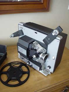 Vintage 1966 Bell and Howell Super 8 Autoload Movie Film Motion Projector Model 432A.