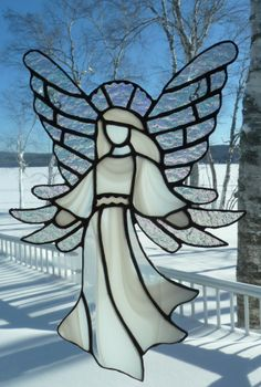 White angel on white snow!